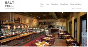 Restaurant website example